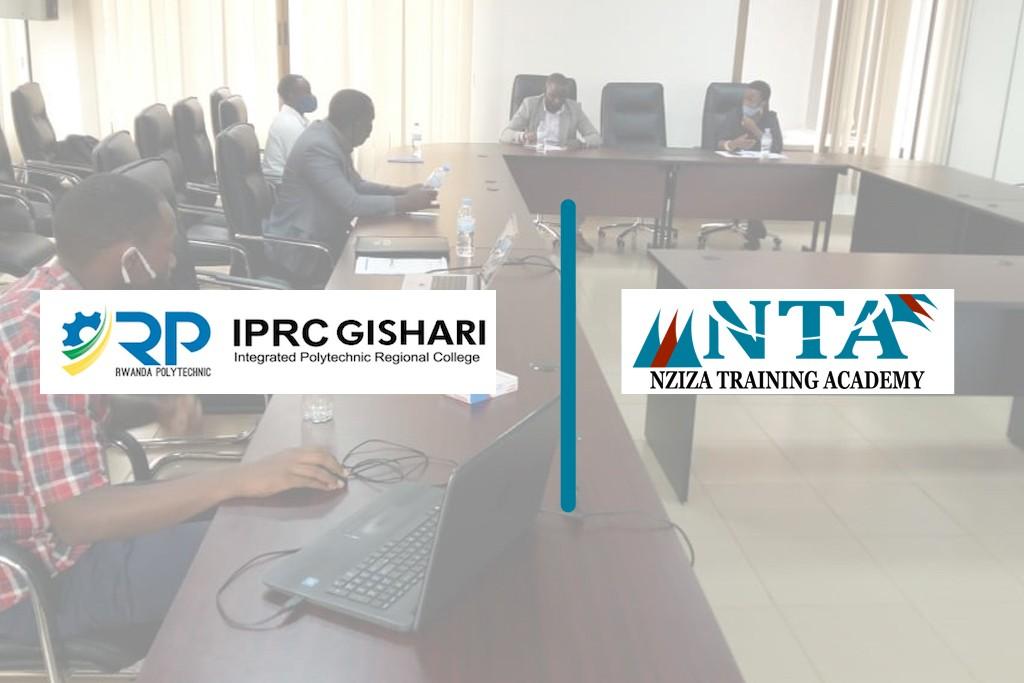 Rwanda Polytechnic/IPRC Gishari signs a partnership agreement for the next five years with Nziza Training Academy.