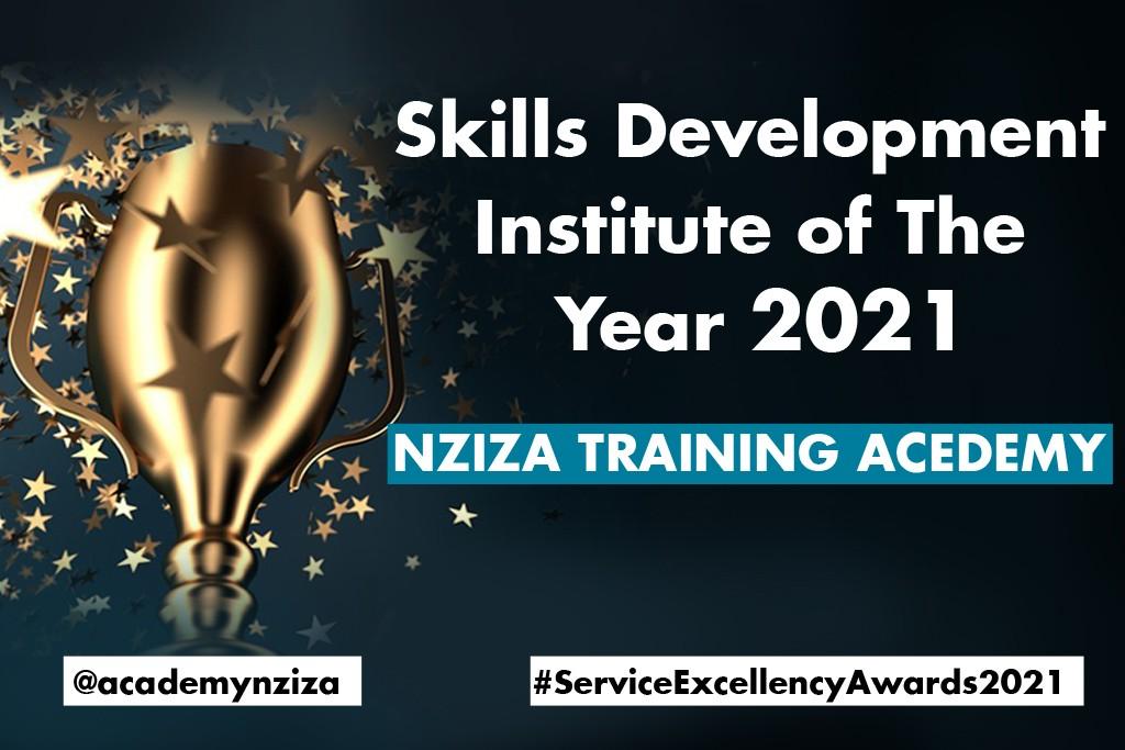 Awarded as skills development institute of the year 2021 in Rwanda/ Nziza Training Academy.